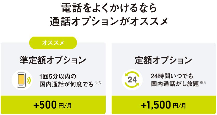 オプション ソフトバンク 準 定額